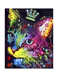 Thinking Cat Crowned Giclée par Dean Russo