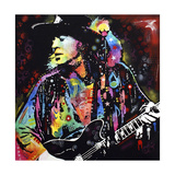 Stevie Ray Vaughan Reproduction d'art par Dean Russo
