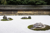 Zen Rock Garden in Ryoanji Temple  Kyoto  Japan
