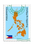 Mail To-From Philippines Reproduction d'art par Perysty