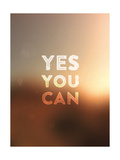 Quote Typographical Background  Vector Design Yes  You Can Blurred Abstract Background