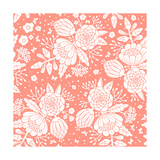 Seamless Vintage Pattern with Decorative Flowers
