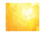 Retro Orange Geometric Pattern for Modern Hipster Design