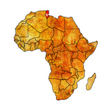 Tunisia on Actual Map of Africa