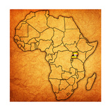 Uganda on Actual Map of Africa
