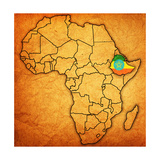 Ethiopia on Actual Map of Africa