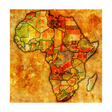 Morocco on Actual Map of Africa