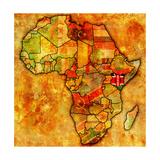 Kenya on Actual Map of Africa