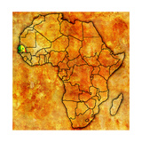 Senegal on Actual Map of Africa