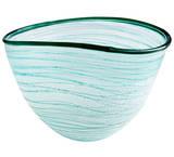 Aqua Swirly Bowl - Small