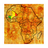 Mali on Actual Map of Africa