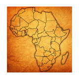 Togo on Actual Map of Africa