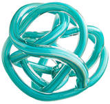 Turquoise Knot Sculpture - Large
