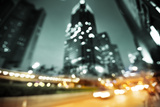 Night Lights of the Hong Kong out of Focus Papier Photo par Iakov Kalinin