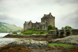 Eilean Donan Castle on a Cloudy Day Low Tide Highlands  Scotland UK