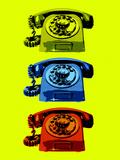 Vintage Rotary Telephone Pop Art Print Poster