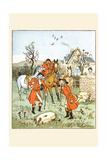 Huntsmen Came across a Grindstone