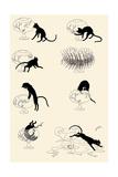 Cat Versus Goldfish Reproduction d'art par Théophile Alexandre Steinlen