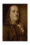 Benjamin Franklin in Fur Collar