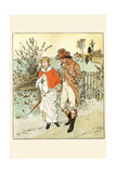 Young Couple Promenade on a Country Way