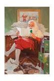 Santa Reading Christmas Letters