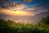 Sunrise Blue Ridge Mountains Scenic Overlook Nantahala Forest Highlands Nc