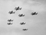 Group of Military Airplanes in Sky