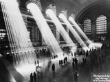 Sun Beams into Grand Central Station Papier Photo par Hal Morey