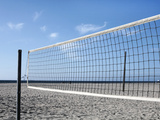 Empty Volleyball Field on the Beach