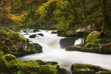 Waterfall at Watersmeet  Exmoor  Devon