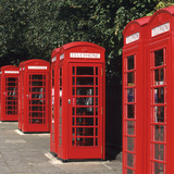 Traditional Red Telephone Boxes in London  England