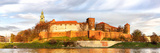 Panorama of Wawel Castle in Krakow  Poland
