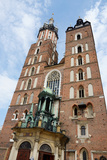 Mariacki Church - Famous Gothic Church Krakow at Main Market Square  Poland