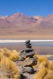 Bolivia  Antiplano - Canapa Lake - Cairn (Quechuan Shrine to the Indigenous Inca Goddess Pachamama)