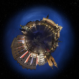 Krakow Old Town Main Market Square at Night  360 Degree Miniplanet (Elements of This Image Furnishe