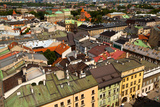 Bird's-Eye View of the Old Town of Kracow  Poland