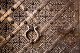 Old Door with Ornament in Royal Wawel Castle  Kracow  Poland