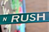 Rush Street Sign