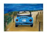 The VW Bug Series - The Blue Volkswagen Bug at the Beach