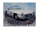 The White Mercedes SL 300 1957