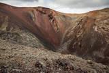 Red Volcano Crater at Timanfaya National Park