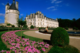 Chateau De Chenonceau with Catherine De Medici's Garden  Chenonceaux  Centre  France  Europe