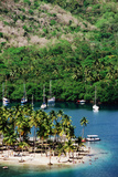 Overhead of Marigot Bay