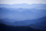 Usa  Tennessee  Nashville  Great Smoky Mountains National Park  Mountain Range in Fog