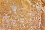 Usa  Utah and Colorado  Dinosaur National Monument  Petroglyphs
