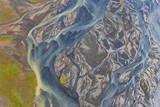 Aerial View of Hosa River  Iceland