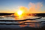 Geyser Smoke at Sunset