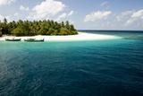 Dhoni Boats  Small Island  Maldives