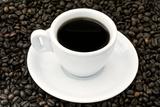 Black Coffee and Beans Papier Photo par Eldad Carin