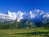The Eiger  Jungfrau And Monch Mountains